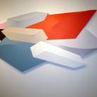 Charles Hinman Bird of Paradise, 1984  acrylic on shaped canvas  51 x 100 x 6 inches