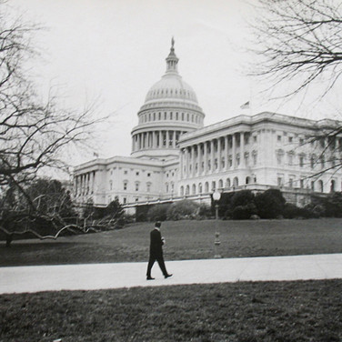 Jacques Lowe (1930-2001)  John F. Kennedy, on Capitol Hill, February 1961  vintage gelatin silver print, signed, dated  paper size > 11 x 14 inches