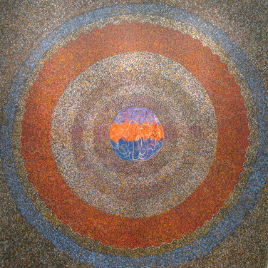 James Juthstrom [1925-2007]  Untitled [Center], circa 1960s  acrylic on canvas,  67 x 66 inches