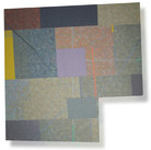 Will Insley (1929-2011) Wall Fragment No. 89.4, 1989 acrylic on masonite, 26.5 x 25.5 inches