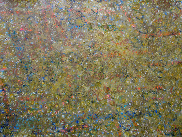 JAMES JUTHSTROM (1925-2007)  Untitled [Gold], circa 1960s  acrylic on canvas 58 x 48 inches