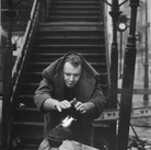 Roy Schatt [1909-2002]  Rod Steiger under the 3rd Avenue EL  photograph late 1950s, early 1960s [printed later]  gelatin silver print, signed, stamped  paper size > 20 x 15.75 inches  © Estate of Roy Schatt