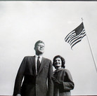 Jacques Lowe (1930-2001)  John F. Kennedy and Jackie, 1960  vintage gelatin silver print, signed, dated  paper size > 11 x 14 inches