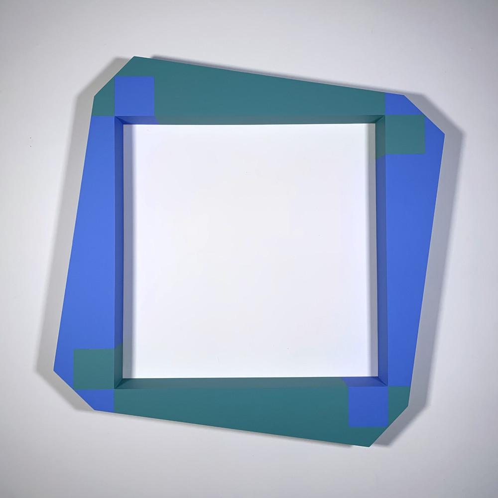 ALAN STEELE Modern Equipment, Fragment 5022, 2020 marine enamel, slate paint, and acrylic on wood Artwork: 38 x 38 x 4 inches | 96.5 x 96.5 x 10.2 cm  Unique, Unframed