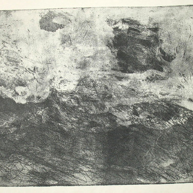 James Juthstrom [1925-2007] Untitled [Clouds] , circa 1950s etching on paper, paper size > 10.5 x 13 inches
