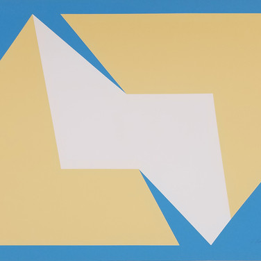 Charles Hinman Tan on Blue, 1974 silkscreen on embossed paper, edition of 200 with 10 EA 25.5 x 34.25 inches