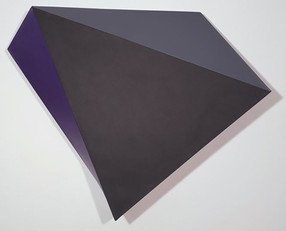 CHARLES HINMAN (b. 1932)  Onyx, 2012  acrylic on shaped canvas  45 x 48 x 9 inches
