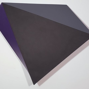 CHARLES HINMAN (b. 1932)  Onyx, 2012  acrylic on shaped canvas  45 x 48 x 9 inches