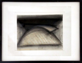 CHARLES HINMAN (b. 1932)  Untitled #4, 1973  charcoal, pastel on paper  14 x 11 inches