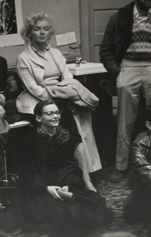 Marilyn Monroe at the Actors Studio with Susan Strasberg in New York City, 1950s