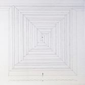Will Insley (1929-2011) /Building/ No. 14, Channel Space Auto-run, Central Spiral, Plan and Section, 1969/74 ink on ragboard 30 x 30 inches