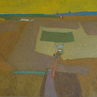 James Juthstrom (1925-2007)  Sky, circa 1950s  oil on masonite, 30 x 49 inches