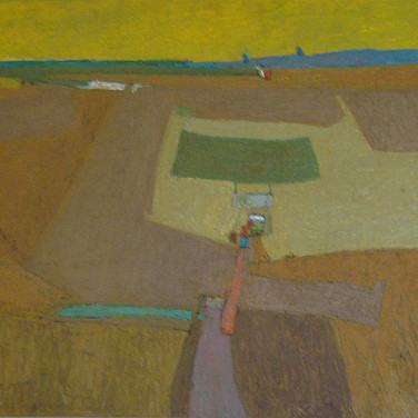 James Juthstrom (1925-2007)  Sky, circa 1950s  oil on masonite, 30 x 49 inches