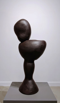 MIRIAM BLOOM Bust, 1992 polychromed terra cotta 39 x 20 x 11 inches