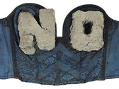 Boris Lurie (1924-2008)  NO Bra (NOs cast in cement), 1972  bra with cement  14.5 x 31 x 2.5 inches