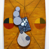 Ron Morosan Head Stand, 1989 oil on canvas and wood 48 x 33 inches