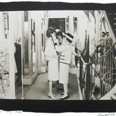 Douglas Kirkland  Mlle Chanel with a model before the fashion presentation  photograph 1962 [printed later]  platinum / palladium print, edition of 12, signed and numbered  paper size > 16 x 20 inches