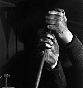 ALMA LAVENSON  Hands of the Etcher  1931 (printed 1987)  gelatin silver print  9 x 6.75 inches