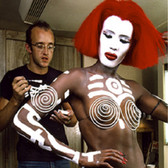 Douglas Kirkland  Keith Haring and Grace Jones, 'Vamp', Burbank, California  photo 1986 [printed later]  archival pigment print on watercolor paper, signed, numbered  paper size > 30 x 24 inches