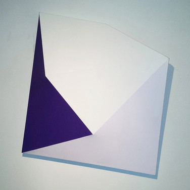 CHARLES HINMAN (b. 1932)  Purple Purpose, 2014  acrylic on shaped canvas  43 x 35 x 6 inches