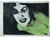 Boris Lurie (1924-2008) Altered Photos Pinup (Drawn Head), c.1963  photo emulsion on canvas  46 x 64 inches