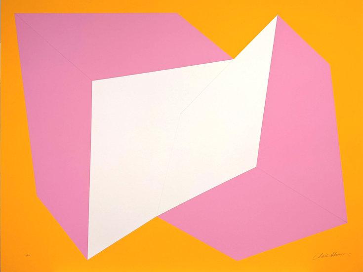 Charles Hinman - Pink on Orange