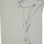 Untitled (High Heels), 1955-67 ink on paper [blotted ink technique], signed 12 x 10 inches