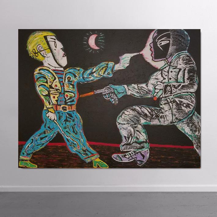 CARMEN CICERO Race, 1972-74 acrylic on canvas 76 x 102 inches | 193.0 x 259.1 cm
