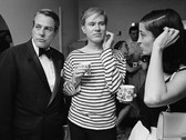 Bob Adelman (1930-2016) Actor Kevin McCarthy, Andy Warhol and Marisol Escobar at a Factory party photograph 1965 (printed later) archival pigment print, AP, signed paper size > 15.5 x 22 inches