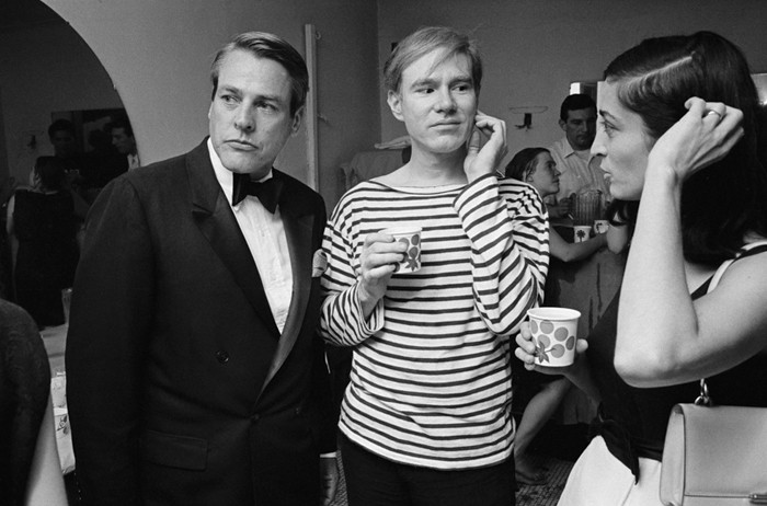 BOB ADELMAN (1930-2016) Actor Kevin McCarthy, Andy Warhol and Marisol Escobar at a Factory party photograph 1965 [printed later] archival pigment print, AP, signed Paper Size: 15.5 x 22 inches | 39.4 x 55.9 cm