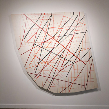 WILL INSLEY (1929-2011) Wall Fragment No. 03.02, 1989/03 acrylic, pencil on masonite  84 x 87 x 2.5 inches