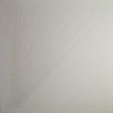 WILL INSLEY (1929-2011) Slip Space, 1969/73 pencil on cardboard 30.25 x 30.25 inches