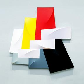CHARLES HINMAN (b. 1932)  Megaripple, 1988 acrylic on shaped canvas 83 x 81 x 6 inches