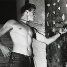 Roy Schatt [1909-2002]  James Dean with light meter, Roy Schatt's studio, NYC, 1954  vintage gelatin silver print  paper size > 7.8 x 9.8 inches  Photo Roy Schatt CMG