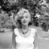 Sam Shaw [1912-1999]  Marilyn Monroe, Roxbury, CT  photo 1957 [printed later],  gelatin silver print, AP, stamped by the Estate paper size > 15 x 19 inches
