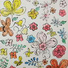 Andy Warhol  Happy Flower Gathering Days circa 1963  lithograph on paper  Authenticated by AWAAB  12 x 9 inches