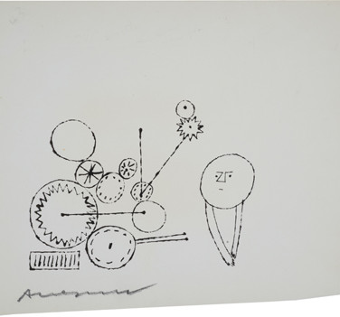 Untitled (Thinking 3), 1955-67 ink on paper [blotted ink technique], signed 8.5 x 10.5 inches