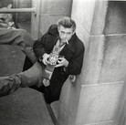 Roy Schatt [1909-2002]  James Dean with Rolliflex Camera  photo 1954 [printed later]  gelatin silver print, edition of 65, signed  paper size > 16 x 20 inches  photo Roy Schatt CMG
