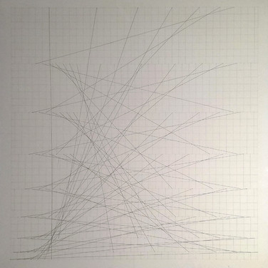 Will Insley (1929-2011) Slip Space Flip Extended, 1969 pencil on cardboard, 30.25 x 30.25 inches