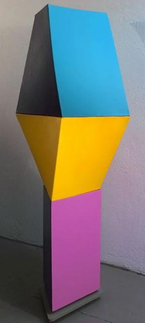 CHARLES HINMAN (b. 1932)  Chubby Checker, 2007-08  acrylic on shaped canvas  72 x 36 x 36 inches