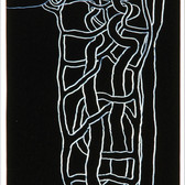 RON MOROSAN System Thinking, 1996 oil and acrylic on wood  84 x 24 inches