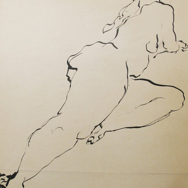 James Juthstrom [1925-2007] Untitled, circa 1950s ink on artist paper 24 x 18 inches
