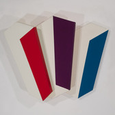 Charles Hinman Chromatic Three, 2009 acrylic on shaped canvas 27 x 42 x 9 inches