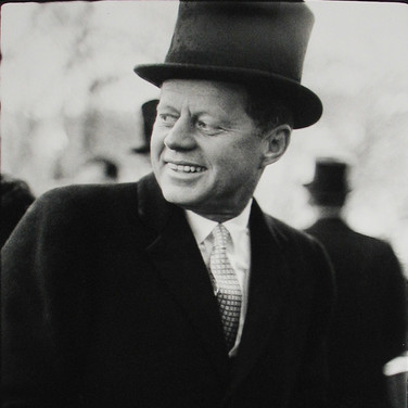 Jacques Lowe (1930-2001)  John F. Kennedy. Inaugural festivities, Washington, DC  photo January 20, 1961 [printed later]  gelatin silver print, AP  paper size > 20 x 16 inches