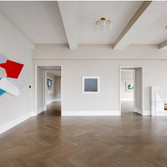 The Crown Penthouse Grand Room  On view: artworks by Charles Hinman, Cy Twombly