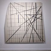 WILL INSLEY (1929-2011) Wall Fragment No. 94.6, 1994 acrylic on masonite 80 x 80 x 3 inches