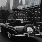 Sam Shaw [1912-1999]  Marilyn Monroe and Arthur Miller cruising in his 1956 Ford Thunderbird, New York City  photo 1956 [printed later]  gelatin silver print, AP, stamped by the Estate paper size > 19.5 x 14.75 inches