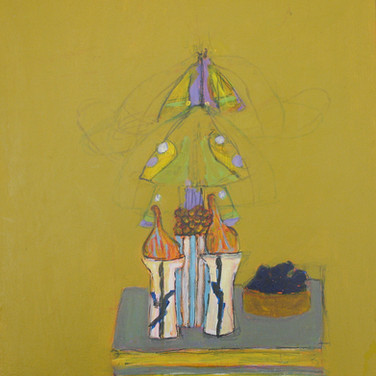 James Juthstrom (1925-2007) Untitled [Still Life], circa 2000s oil on board 24 x 20 inches