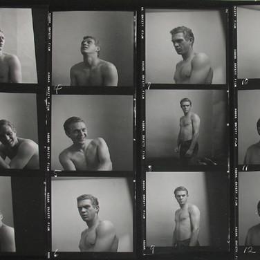 Roy Schatt [1909-2002]  Steve McQueen in Roy's studio / apartment, New York City  photograph circa late 1956  vintage gelatin silver print, stamped  size > 8 x 10 inches  © Estate of Roy Schatt