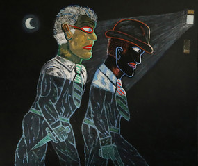 Carmen Cicero The Prowlers, 1998 acrylic on canvas 72 x 84 inches